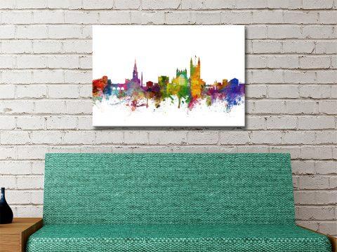 World Cities Watercolour Skyline Prints Online