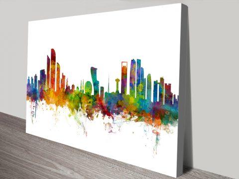 Buy an Abu Dhabi Skyline Print