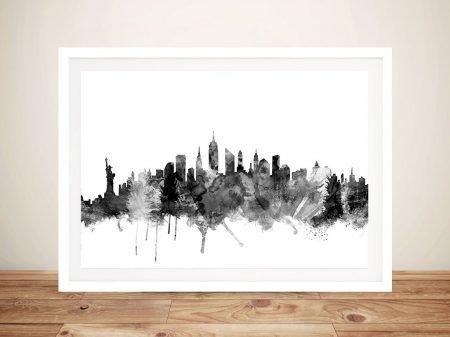 Buy a Framed New York City Skyline Print