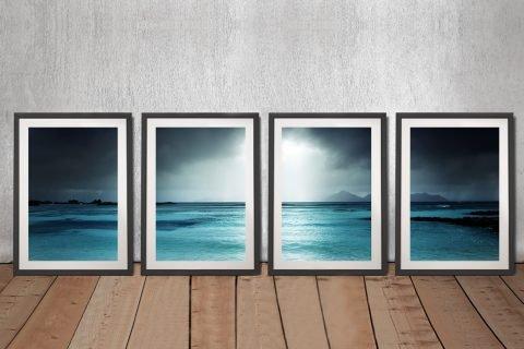 Framed Moody Shores Quad Set for Sale