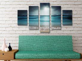 Buy Moody Shore Split-Panel Canvas Wall Art