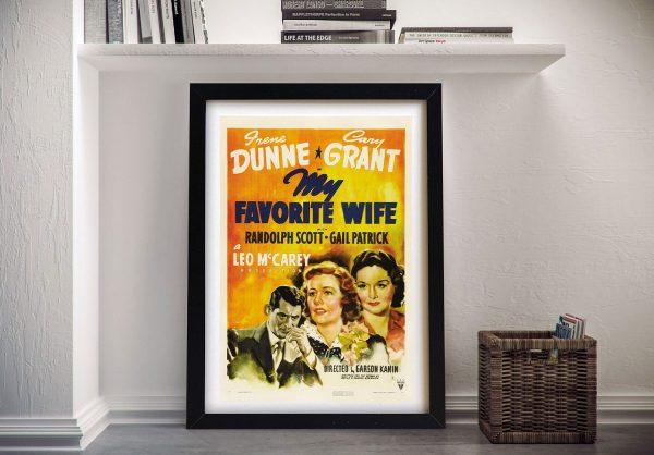 My favorite wife Framed Wall Art