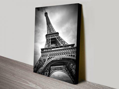 Black & White Eiffel Tower Canvas Art