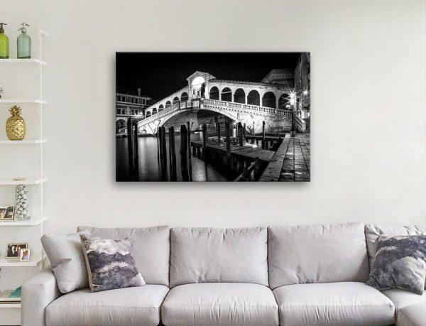 Rialto Bridge Ready to Hang Wall Art AU