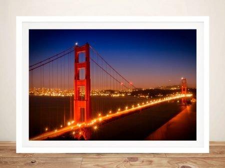 Golden Gate Bridge Night Cityscape Art