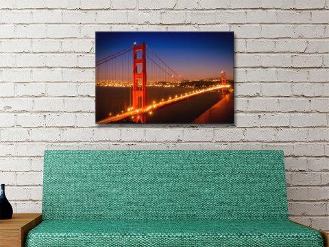 Golden Gate Bridge Cityscape Art for Sale