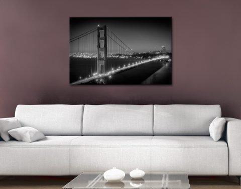 Ready to Hang Black & White Cityscape Art