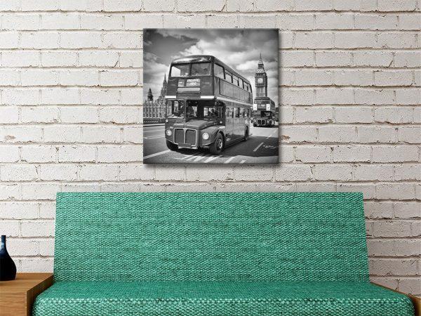 Ready to Hang London Bus Canvas Artwork