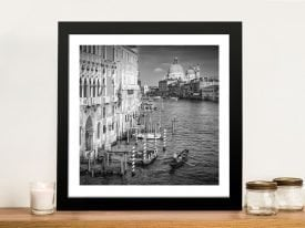 Venice Canal Grande Black & White Art