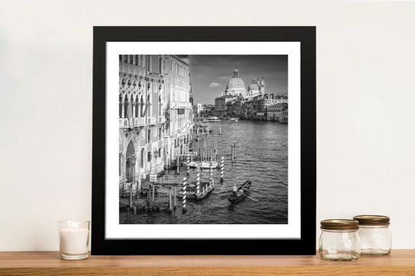 Venice Canal Grande Black & White Art