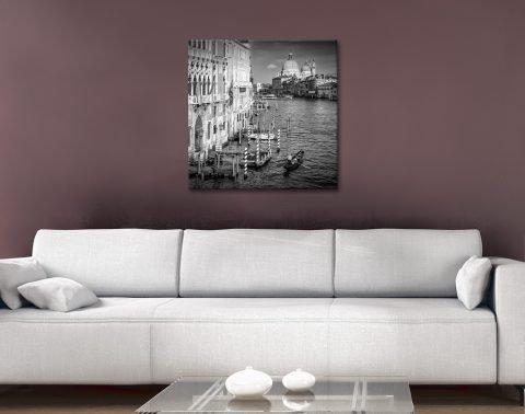 Venice Black & White Print Home Decor AU