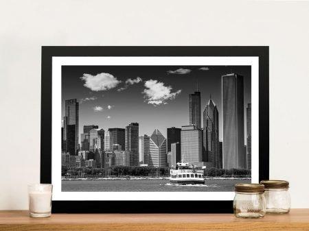 Chicago Skyline Melanie Viola Canvas Print