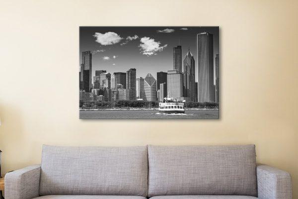 Chicago Skyline Art Unique Home Decor AU