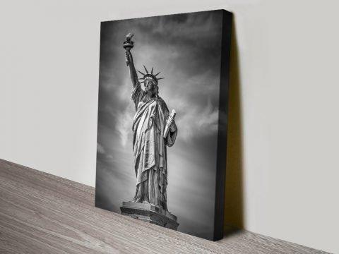 Statue of Liberty Black & White Wall Art