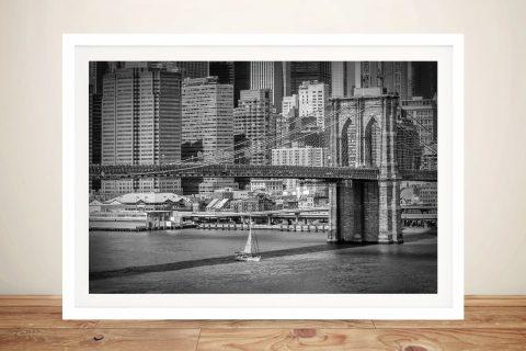Framed Brooklyn Bridge Print on Canvas