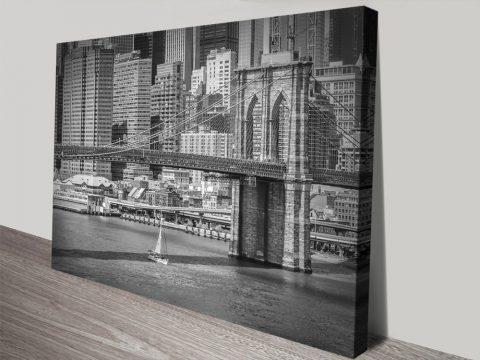 NYC Brooklyn Bridge & East River Wall Art