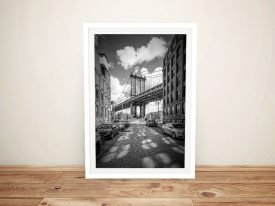 Manhattan Bridge Framed Wall Art