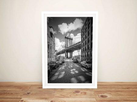 Manhattan Bridge Framed Wall Art