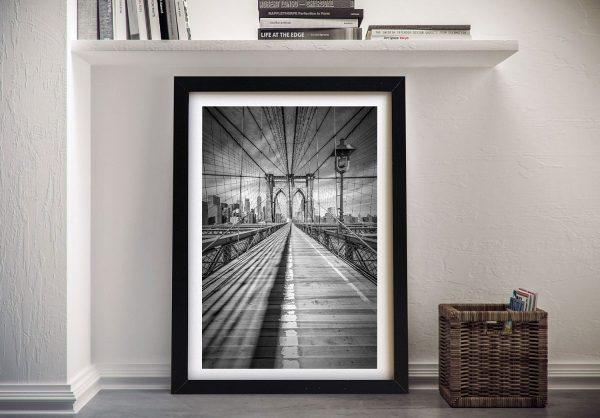 Framed Brooklyn Bridge Vintage Print Online