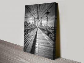 Buy Brooklyn Bridge Black & White Art