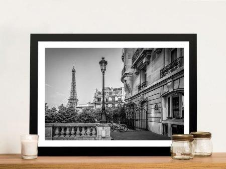 Buy a Framed Parisian Charm Print on Canvas