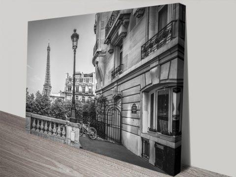 Parisian Charm Black & White Wall Art AU