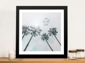 Buy Palm Trees in the Sun Print on Canvas