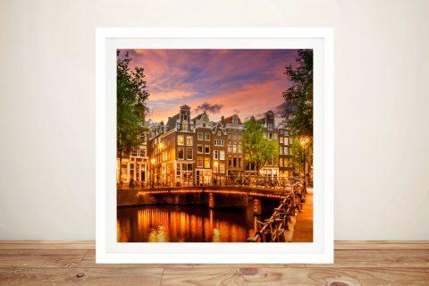 Amsterdam Impression from Singel Canvas Art