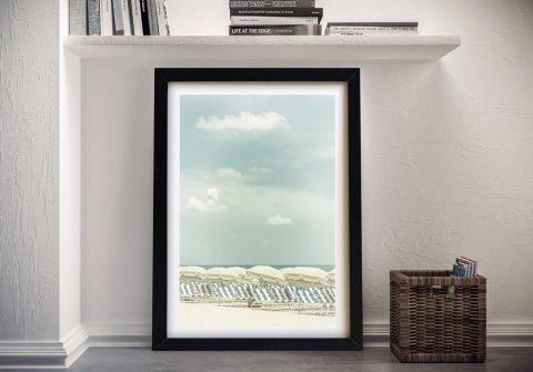 Vintage Beach Scene Melanie Viola Print