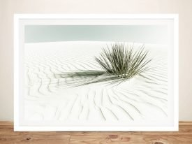 White Sands Dune Framed Print on Canvas