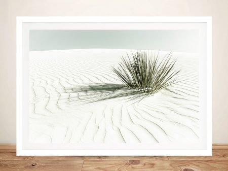 White Sands Dune Framed Print on Canvas