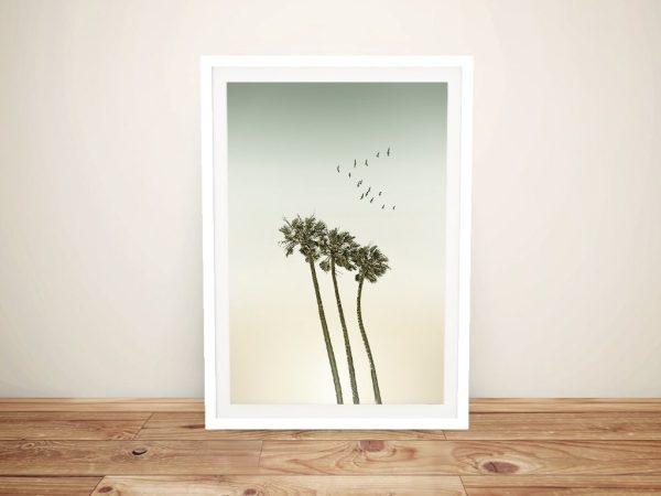 Palm Trees & Sunset Framed Wall Art AU