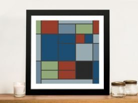 Composition C Mondrian Wall Art on Canvas