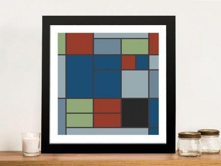 Composition C Mondrian Wall Art on Canvas
