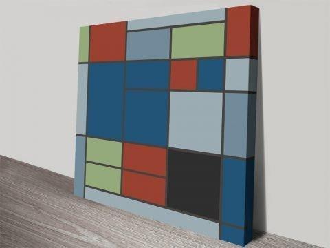 Stretched Canvas Piet Mondrian Prints Online