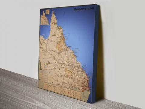 Map of Queensland Unique Gift Ideas AU