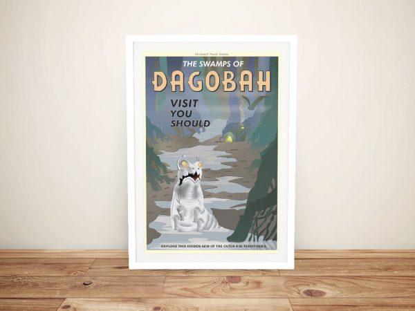 Dagobah Travel Poster Framed