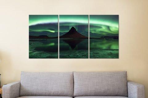 Affordable Split-Panel Northern Lights Prints