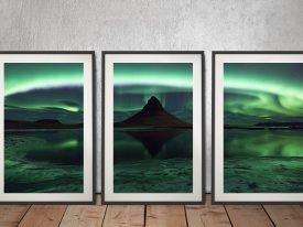 Framed Northern Lights 3-Piece Wall Art