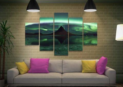 Enchanting Aurora Borealis 5-Piece Art