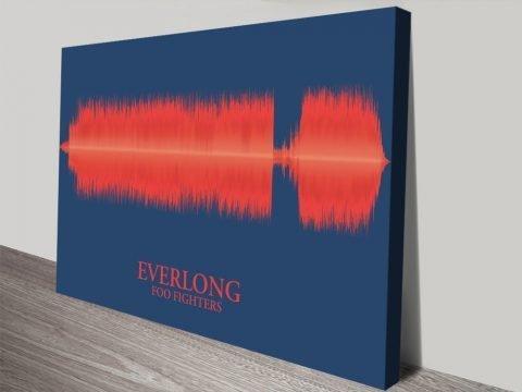 Everlong Foo Fighters Soundwave canvas print