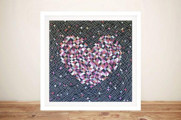 Fragile Heart Framed Abstract Canvas Art