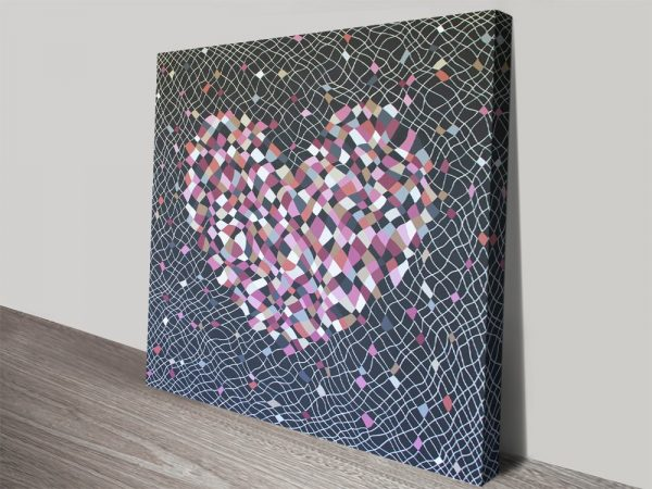 Fragile Heart Colourful Abstract Art Online