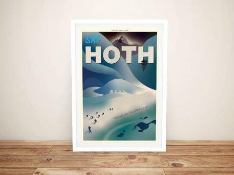 Hoth Travel Poster Framed Art