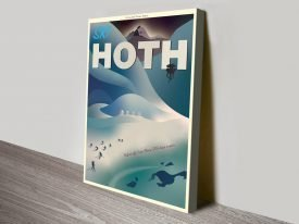 Hoth Star Wars Art Deco Poster