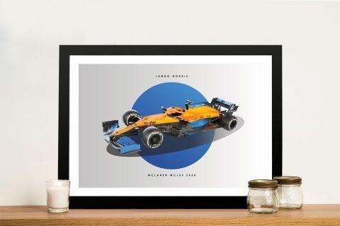 Lando Norris F1 Art Quality Canvas Prints