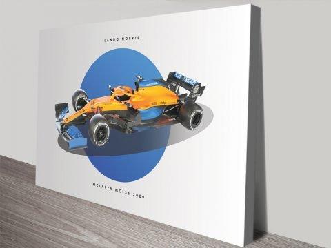 Lando Norris F1 Mclaren Racing Car Poster