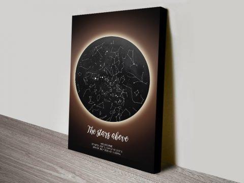 Solar Eclipse Bespoke Star Map Gift Ideas AU