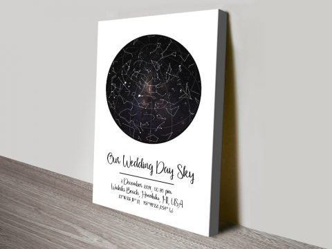 Our Wedding Day Sky Bespoke Star Map