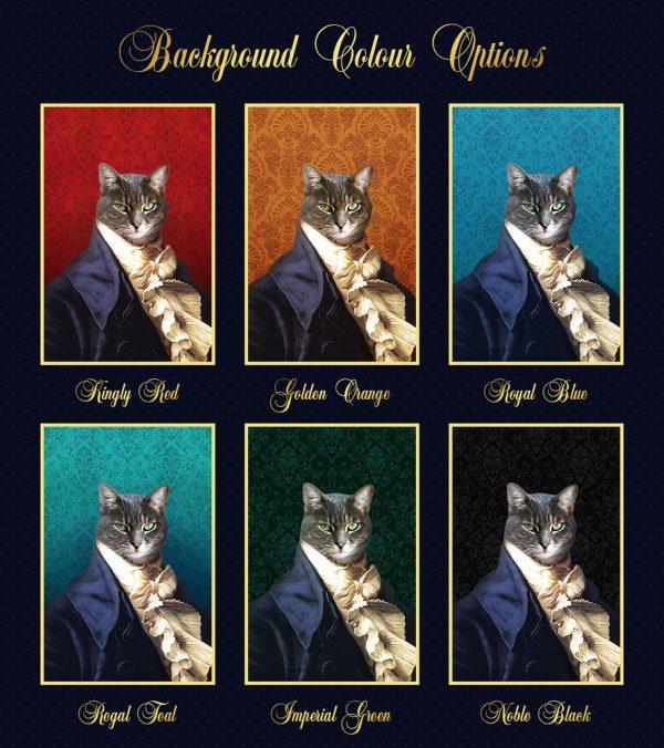 Pet Portrait Background Colour Options